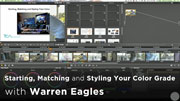 Starting matching and styling your color grade